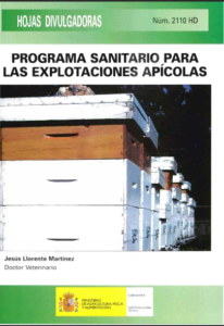 Portada de Programa sanitario para las explotaciones apícolas