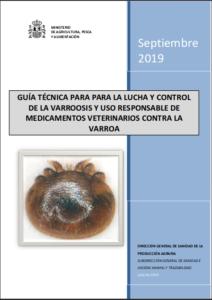 Portada de Guía Técnica para la lucha y control de la varroosis y uso responsable de medicamentos contra la varroa