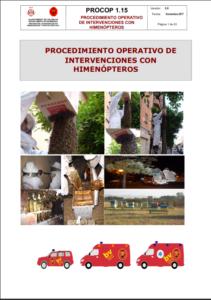 Portada de Procedimiento operativo de intervenciones con himenópteros
