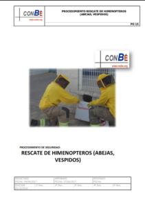 Portada de Procedimiento de rescate de himenópteros (abejas, véspìdos)